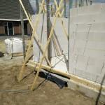 Kelder koekkoeks worden gemonteerd als buitenmuren staan.