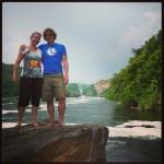 Achter ons de Murchison Falls