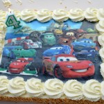 Een 'Cars' taart. Uiteraard!