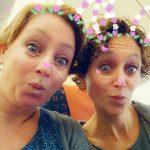 Snapchat met zussie